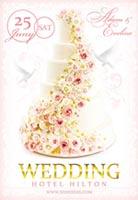 玫瑰花朵婚礼海报