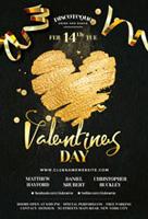 丝带情人节海报