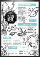 手绘菜单价目表