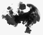 黑色水墨渲染
