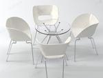 3D桌椅组合模型