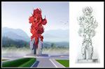 凤凰雕塑模型