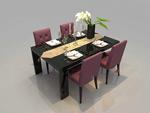 餐桌家具模型