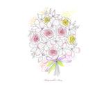 手绘线描玫瑰