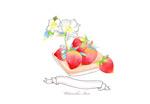 水彩风格草莓
