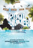 夏季泳池派对海报