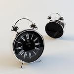 黑色闹钟模型