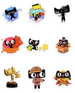 天猫卡通形象元素