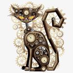 齿轮组成的小猫