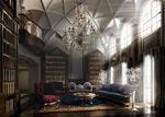 欧式书房模型