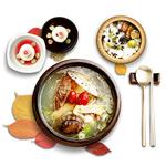 美食炖汤元素