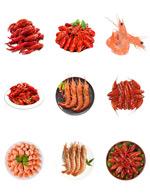 美食可口虾类