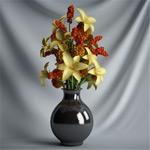 花瓶插花模型