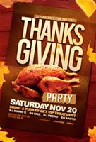 感恩节派对海报