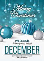 圣诞挂饰促销海报