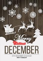 圣诞剪纸促销海报