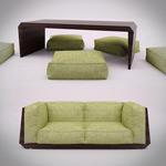 亚麻沙发模型