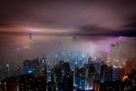 香港云雾夜景