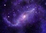 紫色星空图片