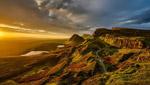 苏格兰丘陵日落