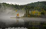 秋天湖景图片