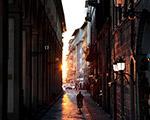 佛罗伦萨日落街景