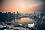 现代城市俯视
