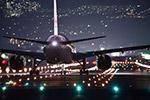 晚上的航班