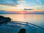 日落港口风景
