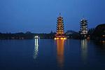桂林双塔图片