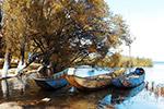 洱海停泊的小船