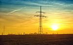 日落电力塔