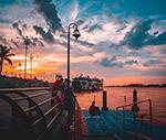 日落港口码头