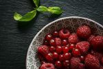 新鲜红色浆果