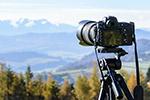 单反相机和风景
