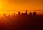 城市日落剪影