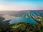 峡谷水库风景