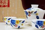 花卉图案茶具