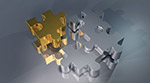 3D拼图的碎片