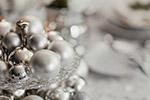 银色圣诞装饰品