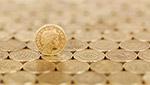 金色英镑硬币