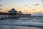 日落海滩码头
