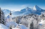 冬天雪山景观