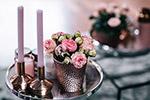 家居烛台花卉装饰