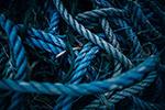 蓝色绳子特写