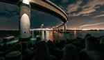 海湾大桥夜景