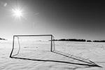 冬天足球场