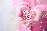 粉红色爱心