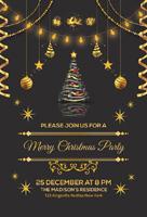 黑金圣诞派对海报