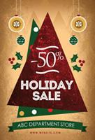圣诞节减价海报